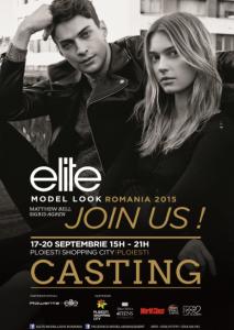 Poster ELITE MODELS ROMANIA in Ploiesti Shopping City