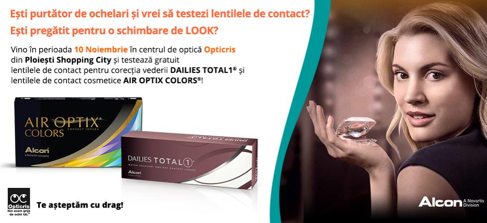 OPTICRIS | Vino să testezi lentilele de contact!